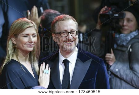 James Gray and wife Alexandra attend the 'The Lost City of Z' premiere during the 67th Film Festival Berlin at Zoo Palast on February 14, 2017 in Berlin, Germany.