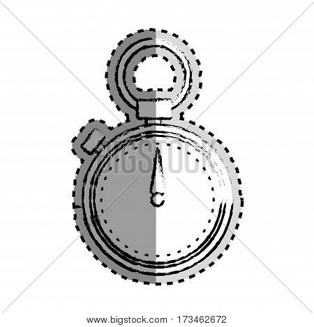 sticker monochrome blurred of chronometer vector illustration