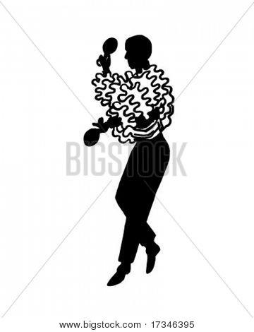 Calypso Dancer 2 - Retro Clip Art