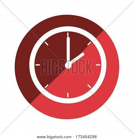 color circular emblem with wall clock vector illustration