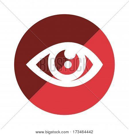 color circular emblem with eye icon vector illustration