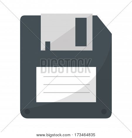 color silhouette with floppy disk vector illustration
