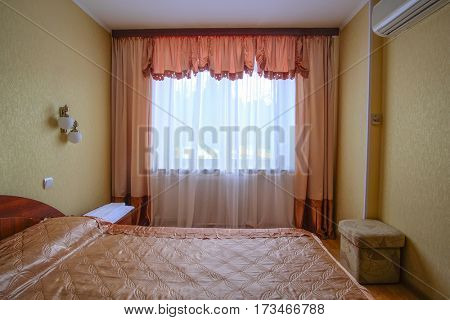 Bed room in a hotel