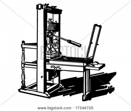 Drucken Presse - Retro Clipart Illustration