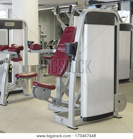 Interior of a modern fitness hall