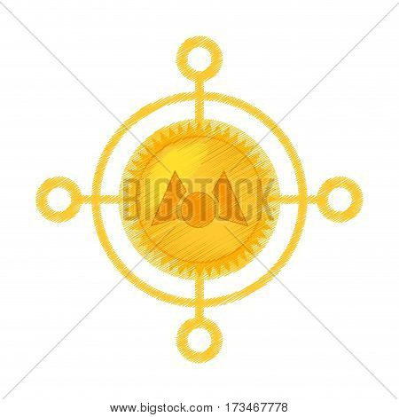 drawing mastercoin currency icon vector illustration eps 10
