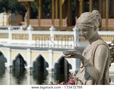 Statue at Bang Pa-In Palace Ayutthaya Thailand