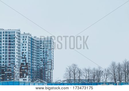 modern urban building under construction . new city, high buildings, residential quarter, residential area