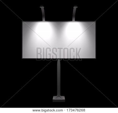 Blank Billboard Night View Mock-up