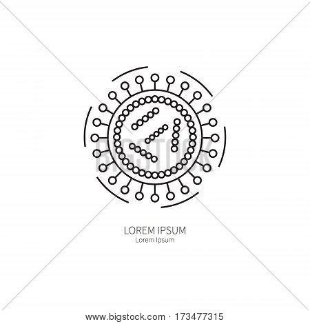 The influenza virus. Simple logos templates for the prevention of influenza concept