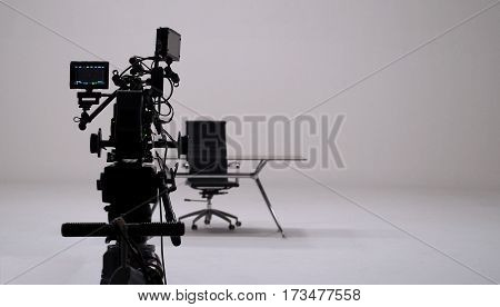 Tv Commercial Recording And Movie Camera Set.