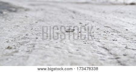 Snow, snowy surface,  snow road.Snow background. Natural background.  Winter abstract background.