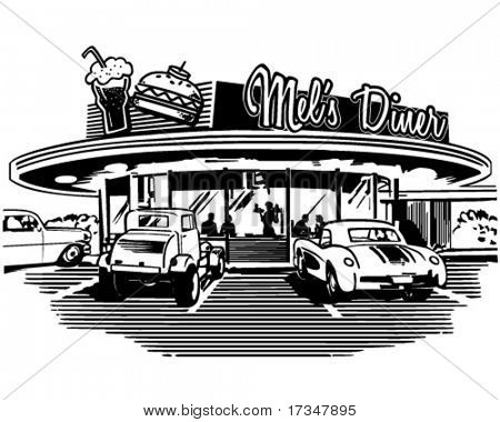 Retro-Diner - Retro Clipart Illustration
