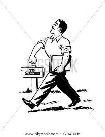 Walking Proud - Retro Clipart Illustration