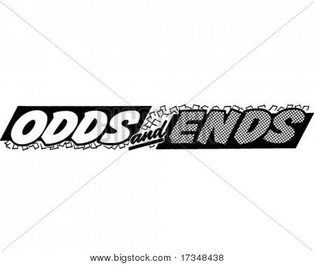 Odds And Ends - Ad Header - Retro Clipart
