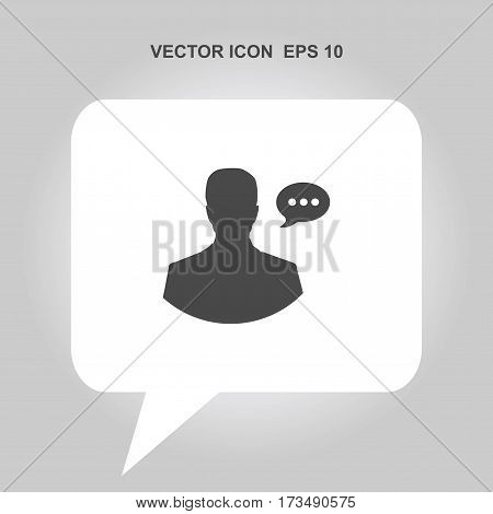 human head with speech bubble Icon, human head with speech bubble Icon Eps10, human head with speech bubble Icon Vector, human head with speech bubble Icon Eps, human head with speech bubble Icon Jpg