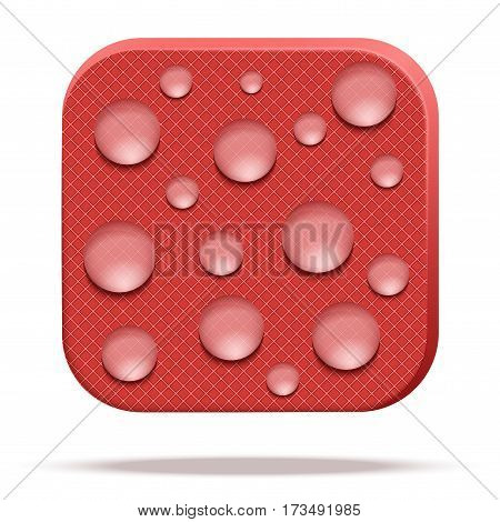 Icons of reticulated fabric rip stop. Technical illustration Demonstration of the structure of the material. Vector Illustration isolated on white background