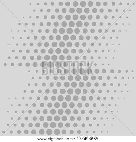 Scattered aligned grey rounds isolated on light background seamless texture. Vector illustration