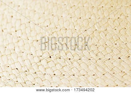 Ligth Brown Woven Straw Texture For Background
