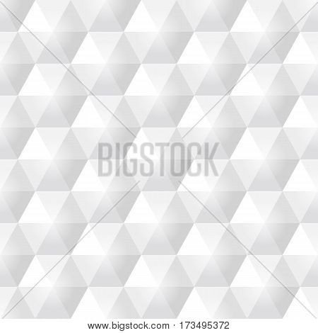 Grey white hexagon seamless background vector illustration