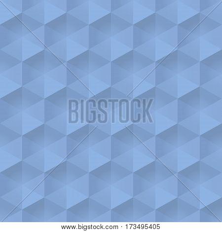 Blue shadows hexagon seamless background vector illustration