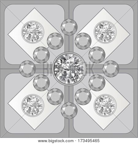 Grey lighting ceiling diamond background vector illustration