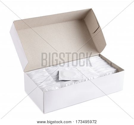 many condoms in a box сontraception production