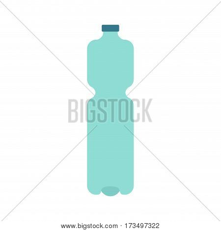 Plastic Bottle Isolated. Plastic Container For Water On White Background