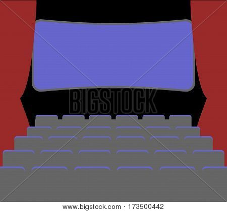 Cinema Facilities And Chairs. Movie House. Picture Palace. Picture Theater