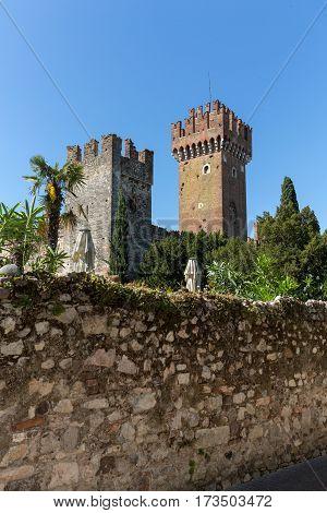 Scaligeri Castle in Lazise at Lake Garda Italy