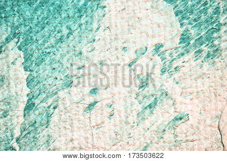 Abstract Art Background. Oil Painting On Canvas. Fragment Of Artwork. Spots Of Oil Paint.