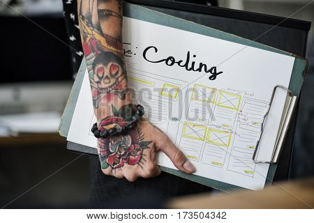Develop Coding Web Design Coding Web Template