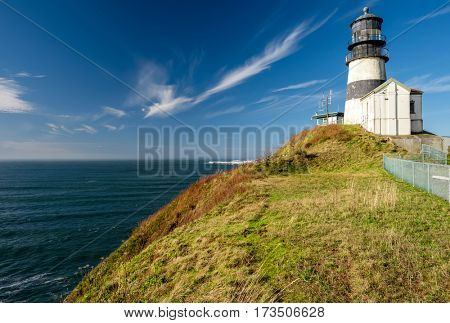 Cape Disappointment Lighthouse, built in 1856, Pacific coast, WA, USA