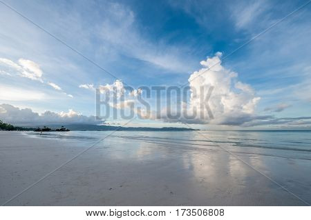 Sky above beach at Boracay, Philippines