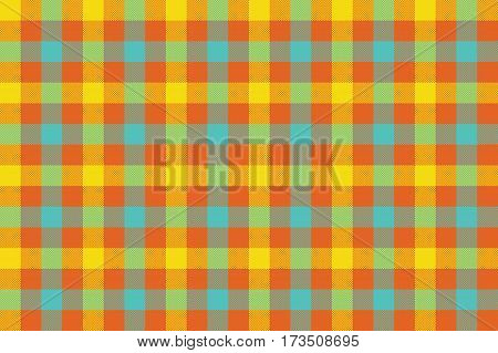 Colors check fabric texture background seamless pattern. Vector illustration. EPS 10.