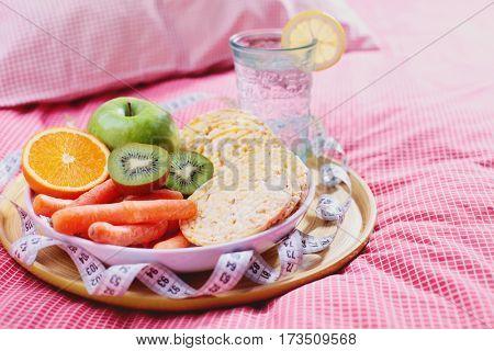 dieteting breakfast in bed - healthy life