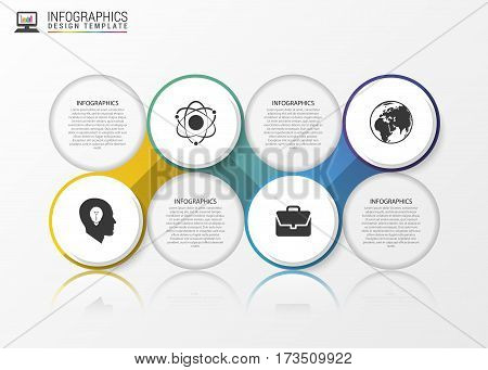 Abstract speech bubble infographic. Modern design template. Vector illustration