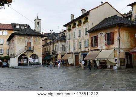The Village Of Orta On Italy