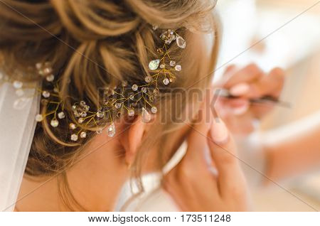 Morning Bride At The Beauty Salon