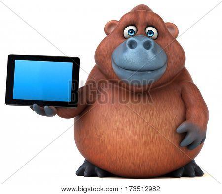 Fun orangoutan - 3D Illustration