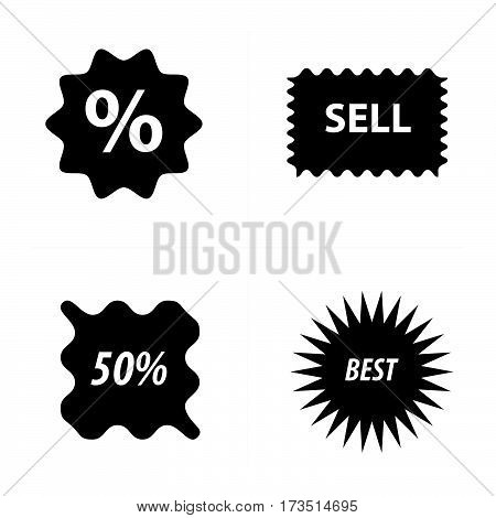 Price tags label set vector design support eps10.