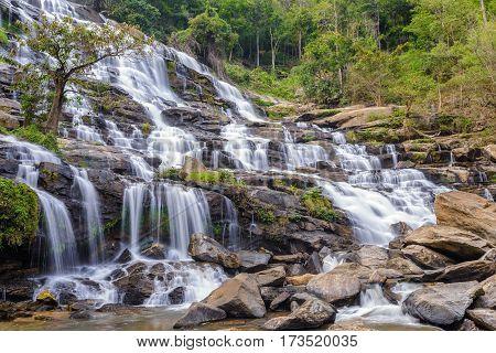 Mae Ya Waterfall at Chiang mai, Thailand
