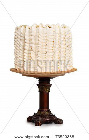Elegant cake minimalist styles, isolated on white background