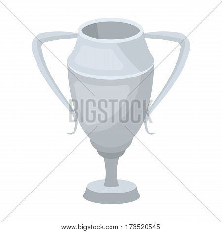 Silver Cup. Award the winner of the competition for second place. Awards and trophies single icon in cartoon style vector symbol stock web illustration.