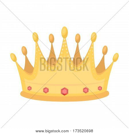 Golden crown with diamonds the winner of the beauty contest. Awards and trophies single icon in cartoon style vector symbol stock web illustration.