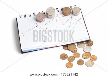 A Stack Of Coins, The Schedule In The Notebook, T