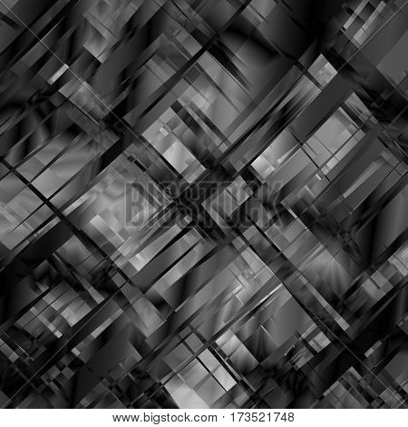 Vector abstract blackandwhite metal glitch background for design. Eps10.