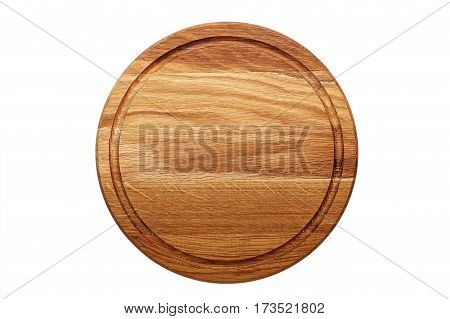 multifunctional circular wooden cutting board for cutting bread pizza or steak serve