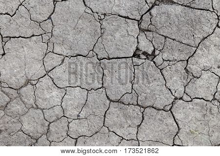 drought cracked earth in gray. earth without rain. background