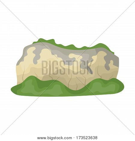 High green mountains. Mountains covered with forests. Different mountains single icon in cartoon style vector symbol stock web illustration.